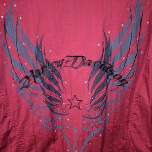 Harley Davidson bling/ embroidered shirt, 1W